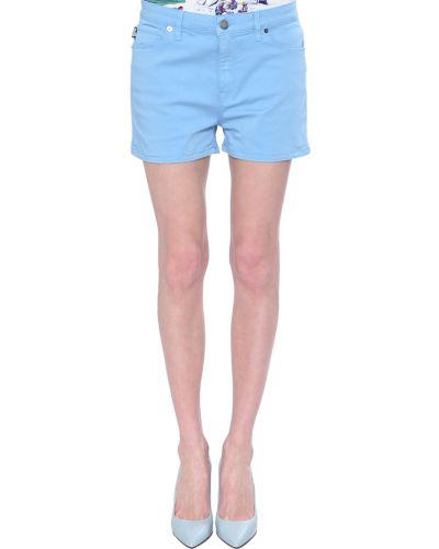 Голубые шорты хлопковые Love Moschino