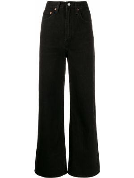 Широкие джинсы черные на пуговицах Levi's®