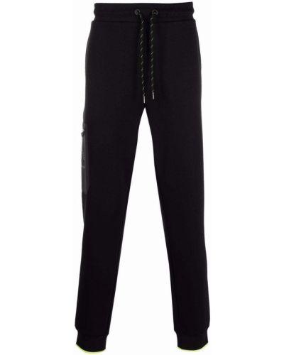 Хлопковые черные спортивные брюки с поясом Karl Lagerfeld