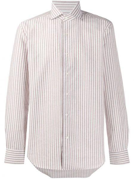 Koszula z długim rękawem z paskami długa Corneliani