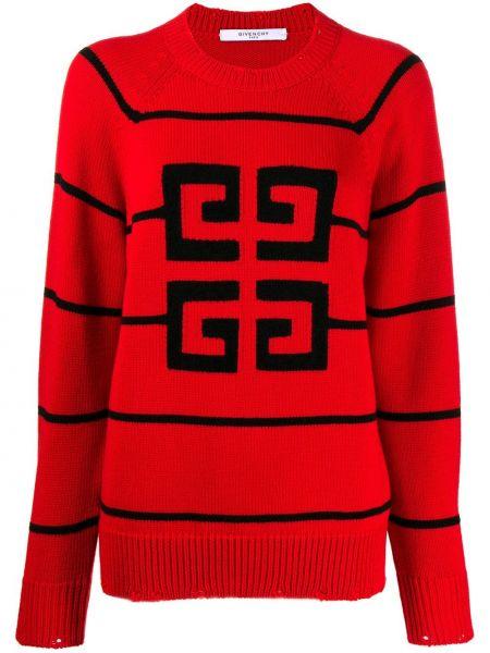 Sweter z wzorem w paski Givenchy