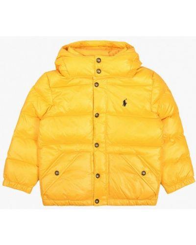 Желтый пуховик Polo Ralph Lauren