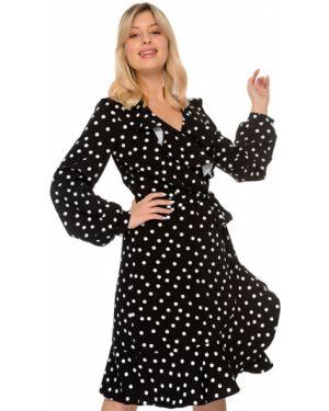 Платье в горошек с запахом Nikol