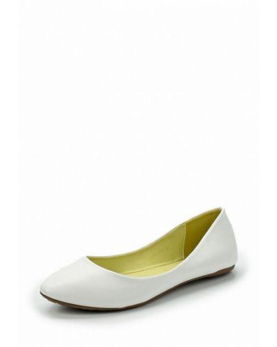Белые балетки кожаные Betsy