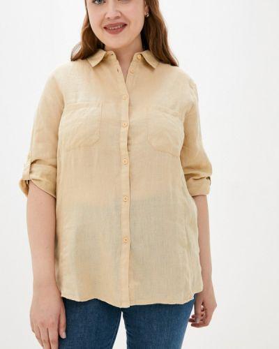 Бежевая весенняя рубашка Rosa Thea
