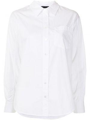 Хлопковая с рукавами белая классическая рубашка Veronica Beard