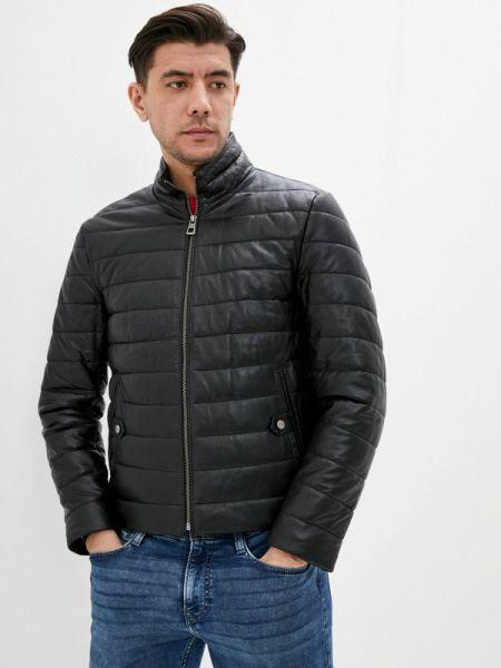 Кожаная куртка черная осенняя Giorgio Di Mare