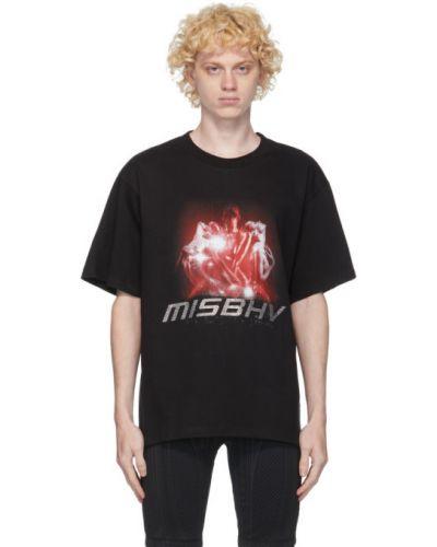 Bawełna czarny koszula krótkie z krótkim rękawem z kołnierzem krótkie rękawy Misbhv
