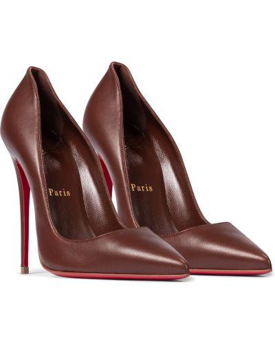Коричневые кожаные туфли-лодочки Christian Louboutin