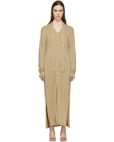 Платье макси на пуговицах вязаное Lemaire