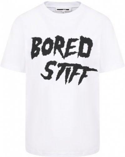 Белая свободная футболка Mcq