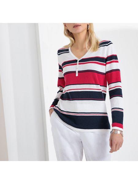 Пуловер с V-образным вырезом на пуговицах Anne Weyburn
