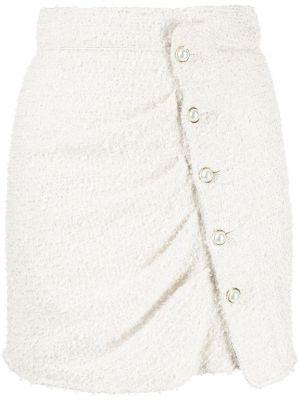 Белая юбка твидовая на пуговицах Amen.