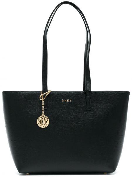Кожаная сумка шоппер среднего размера Donna Karan
