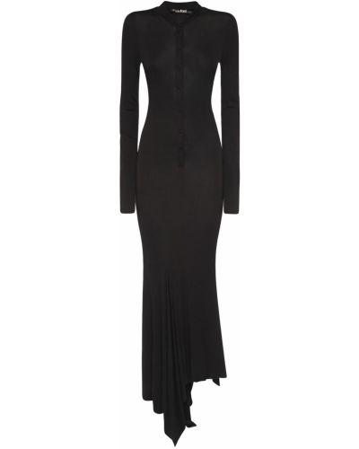 Платье миди на пуговицах - черное Tom Ford