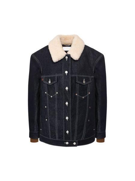 Джинсовая куртка из овчины - синяя Chloé
