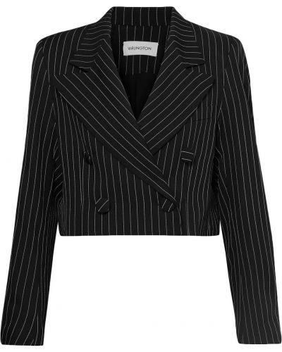 Черный пиджак двубортный на пуговицах 16arlington