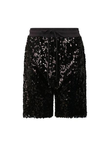 Хлопковые шорты - черные R13