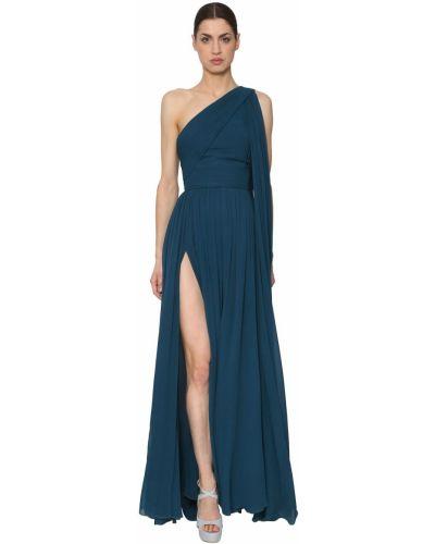 Платье на молнии с вырезом Elie Saab