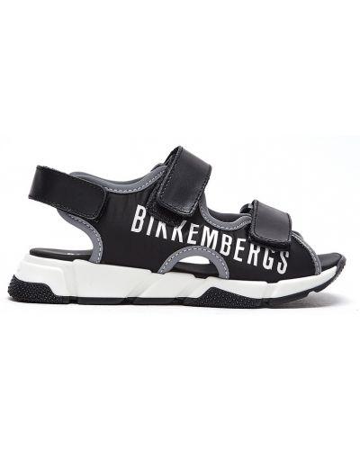 Кожаные черные спортивные балетки с открытым носком Bikkembergs