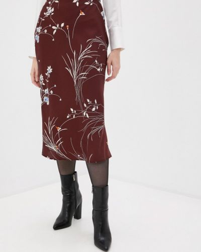 Красная прямая юбка карандаш снежная королева