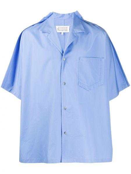 Koszula krótkie z krótkim rękawem prosto przeoczenie Maison Margiela
