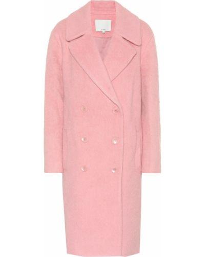 Зимнее пальто розовое из альпаки Tibi