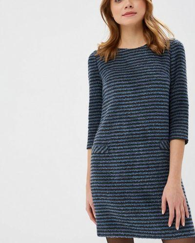 Платье осеннее синее Gregory