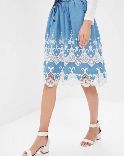 Синяя джинсовая юбка Desigual