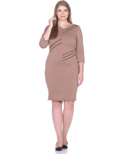 Платье футляр с декольте Rosa Blanco