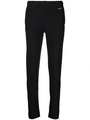 Czarne legginsy z wysokim stanem materiałowe Rag & Bone