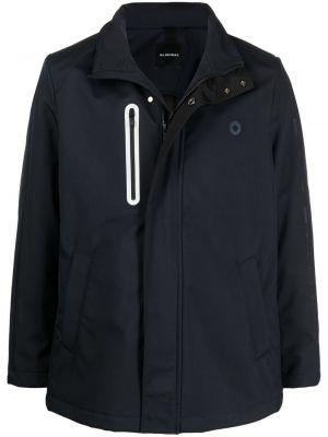 Niebieska długa kurtka z długimi rękawami Bluemint
