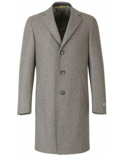 Beżowy płaszcz wełniany Canali