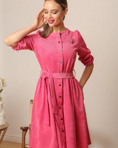 Приталенное повседневное с рукавами платье-рубашка Ellcora