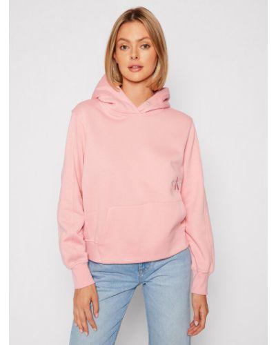 Różowa bluza Calvin Klein Jeans