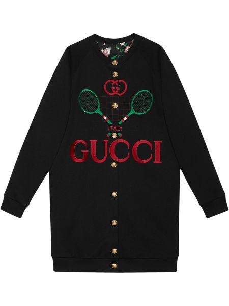 Кардиган черный оверсайз Gucci