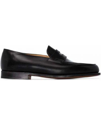 Czarne loafers John Lobb
