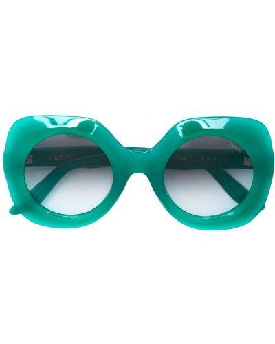 Прямые муслиновые солнцезащитные очки круглые хаки Lapima