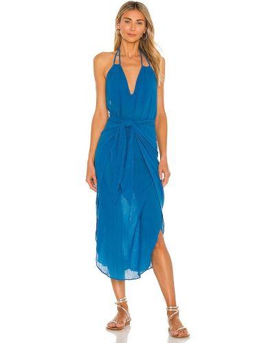 Кожаное платье с подкладкой золотое с нашивками Vix Swimwear