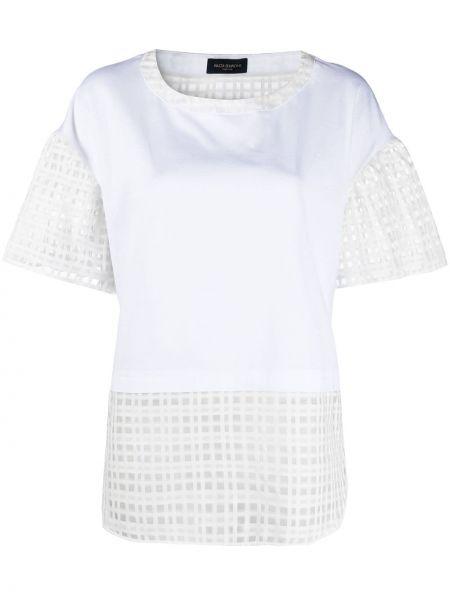 Biała bluzka krótki rękaw bawełniana Piazza Sempione