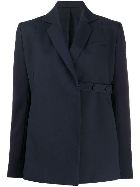 Приталенный синий пиджак на пуговицах Rokh