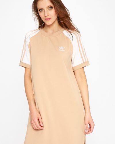 Бежевое платье мини Adidas Originals