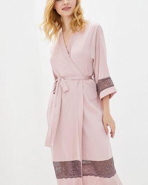 Ажурный розовый домашний халат Mianagreen
