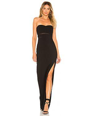 Шелковое вечернее платье с декольте сетчатое на молнии Likely
