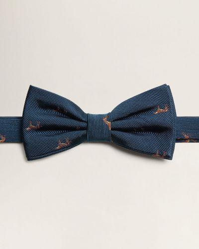 Галстук-бабочка шелковый темно-синий Mango Man