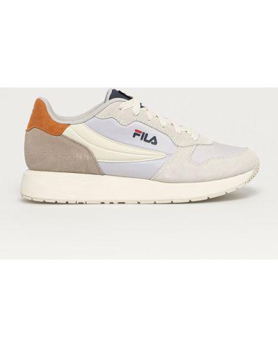 Sneakersy skorzane sznurowane Fila