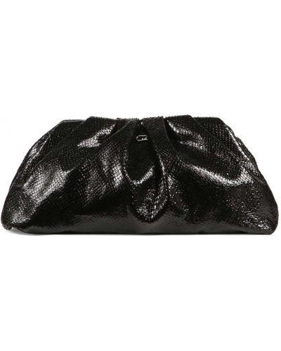 Черная кожаная сумка на молнии Giuseppe Zanotti