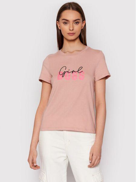 T-shirt - różowa Vero Moda