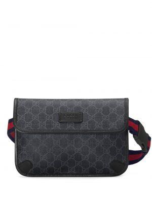 Кожаная поясная сумка - черная Gucci
