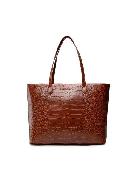 Brązowa torba na zakupy Silvian Heach